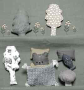 Zestaw leśne zwierzątka-niedźwiedź szary lalki madika design