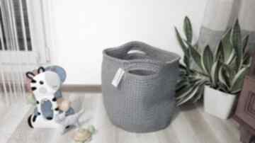 Splociarniakosz sznurek szary pudełko zabawki bawełna