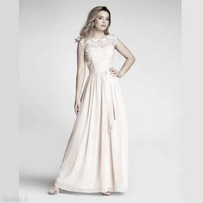 Sukienka dina maxi kamelia róż sukienki livia clue wieczorowa