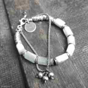 Bransoletka ze srebra i akwamarynów treendy akwamaryn polerowany