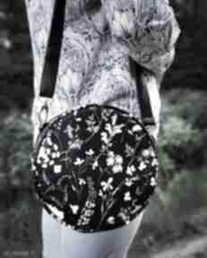 Upominki świąteczne? Round bag - polne kwiaty na ramię torebki