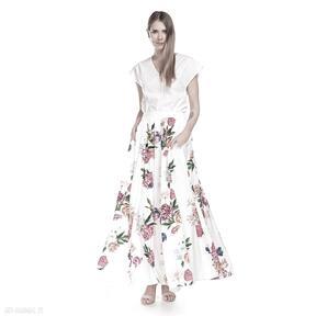 Spódnica kamelia spódnice pawel kuzik letnia, maxi, kwiaty