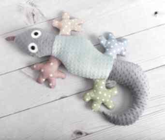 Poduszka dziecięca jaszczurka maskotki ateliermalegodesignu