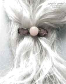 Spinka do włosów z bursztynu prezent luksusowy swoją