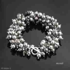Hedera, bransoletka z pereł swarovski monle bransoletka, perły