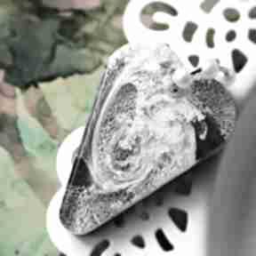 Szaro czarno białe serce naszyjniki cardmaking dream big