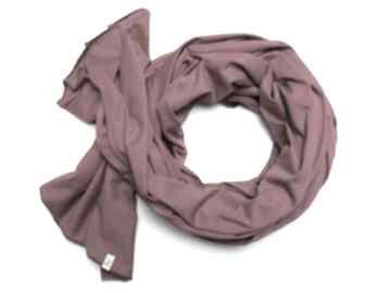 Bordowy szal szalik chusta 100% cotton handmade szal, pomysł