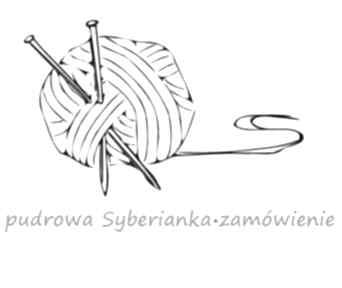 Pudrowa syberianka - zamówienie czapki aga made by hand