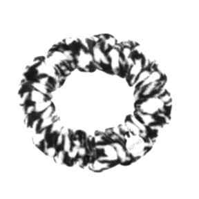 Czarno biała aksamitna gumka włosów ozdoba rękę dodatek frotka