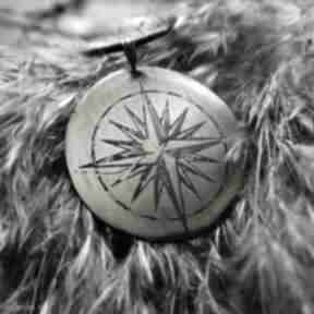 WolfPath Studioróża wiatrów kompas busola wisior