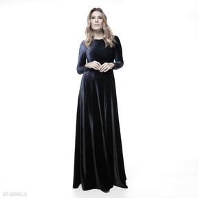 Sukienka natasa sukienki pawel kuzik ombre, cieniowana, welurowa