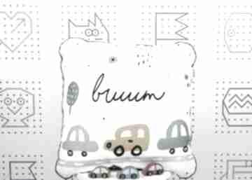 Poduszka brum 46x46 dla dziecka nuvaart samochody, brum