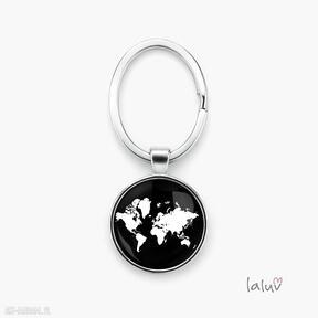 Brelok do kluczy świat breloki laluv ziemia, mapa, mapy, planeta