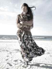 Sukienka w kwiaty sukienki ququ design maxi, etno, letnia