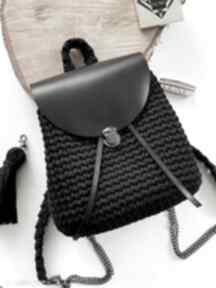 Damski plecak plecaczek szydełkowy handmade fabryqaprzytulanek
