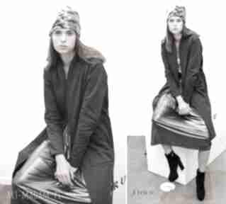 Płaszcz simple long coat grafit płaszcze trzyforu fashion, 3foru