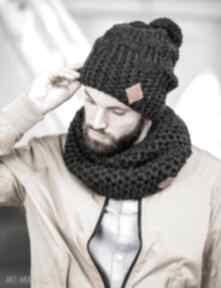 Tuba czarna perła szaliki brain inside szalik, dla mężczyzn
