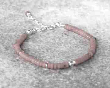 Bransoletka z koralem mini - ii w srebrze bernas bransoletka