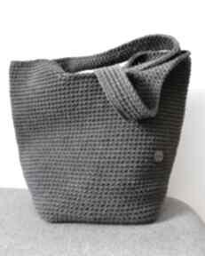 Duża szydełkowa torba na ramię torebki pule shopperka, zakupy