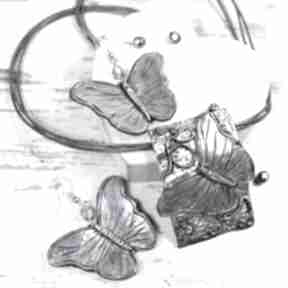 "Komplet biżuterii ""motyle"" kameleon motyle, biżuteria z-motylami"