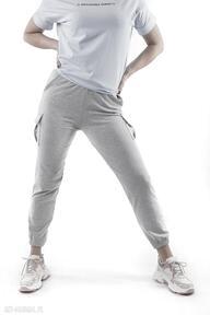 Spodnie bojówki szare total stick trzyforu spodnie, spódnice