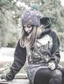I'm a hero skarby lasu czapki brain inside jesień, zima, czapka