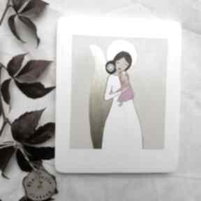 Anioł stróż dla dziewczynki na chrzest święty no 3 dziecka