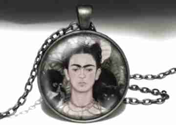 Frida kahlo duży medalion łańcuszkiem orientalny naszyjnik