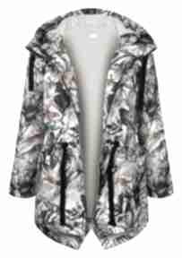 Ekoszale? Jesienna kurtka parka w gepardy, ciepła