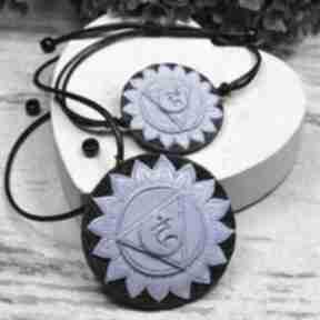 Komplet biżuterii vishuddha - wisiorek i bransoletka czakry