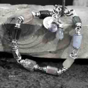 Pozytywna - bransoletka 01 arvena srebro oksydowane, cytryn