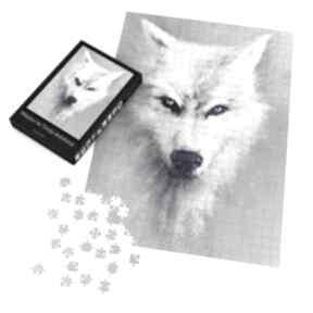 Puzzle - biały wilk 60x42 cm 600 elementów liliarts puzzle