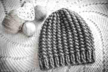 Czapka handmade czapki hermina hand made, zimowa czapka, robiona