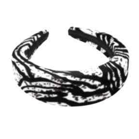 Gruba opaska prążki modna włosów ciapki ozdoby oryginalna