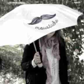 Moustache ecru parasol składany parasole plufpluf parasolka