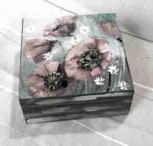 Szkatułka maki 1 pudełka marina czajkowska dom, pudełko