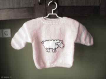 """Sweterek """"owieczka """" gaga art sweterek, rękodzieło, mięciutki,"""
