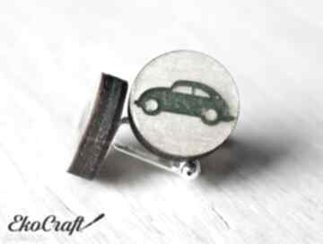 Drewniane spinki do mankietów auto seria color ekocraft spinki