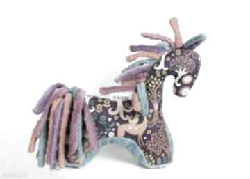 Koń turkus fiolet - przytulanka sensoryczna zabawki nuvaart koń
