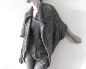 Melanżowy kardigan w kształcie kokonu swetry anna damzyn sweter