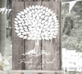 Rustykalne drzewo wpisów - jak księga gości 40x50 cm księgi