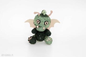 Malutki smoczek zielony zabawki asiek1 smok, smoczek, maskotka