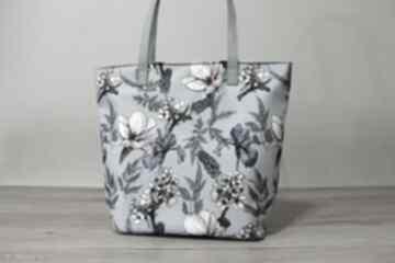 Pomysł na prezenty święta! Shopper bag bucket - irysy vintage