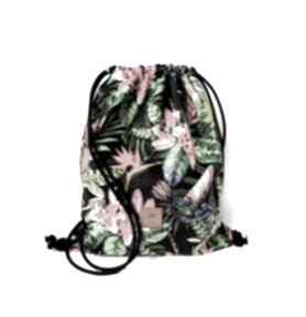 SABI TATKA. workoplecak plecak-worek welurowy-plecak kolibry