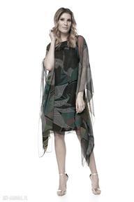 Sukienka loan sukienki pawel kuzik szyfonowa, luźna, wzory