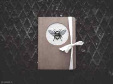 Notes pszczółka notesy zapetlona nitka noteszhaftem, noteseko
