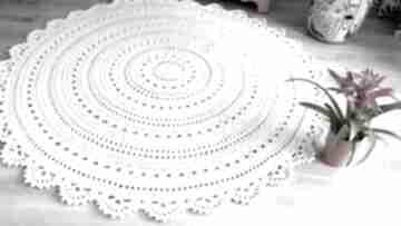 Dywan mandala lace 150 cm cudarenki mandala, ażurowy, naturalny