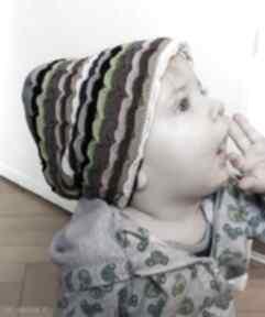 Ruda Klaraczapka dziecko niemowlę paski etno boho