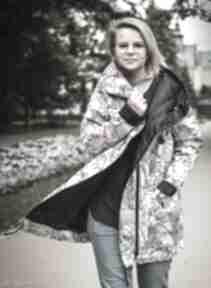 Twarze oversizowy płaszcz z tkaniny wodoodpornej s płaszcze