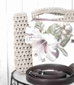Looped ochra torebki just catch handmade szydełko, sznurek,